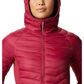 Columbia Powder Pass Chaqueta Capucha Mujer, red orchid